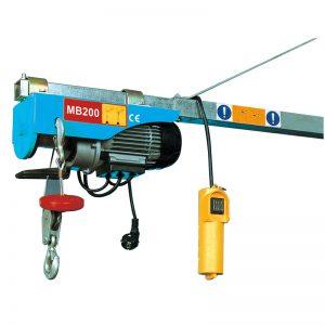 MB200 Mini इलेक्ट्रिक Hoist, इलेक्ट्रिक लीभर फहरा